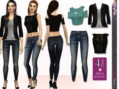 The Sims Resource: Street Fashion Mix & Match Set by Simsimay • Sims 4 Downloads