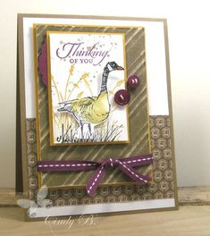 I love this goose from the Wetlands set-Stampin'Up!