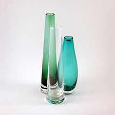 Scandinavian Glass Vase Grouping