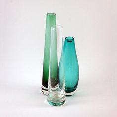 Scandinavian Glass Vase Grouping