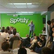 Daniel Ek of Spotify, addressing Spotify staff