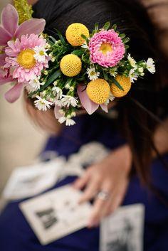 spring headdress by mibellarosa designs. photo by ikigai photography.