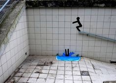 Have a look at these great examples of creative artists giving life to objects in the streets. (street art)