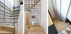 Geweldige trap naar het dak