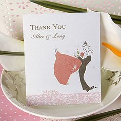 Thank You Card - Happy Couple (Set of 50)