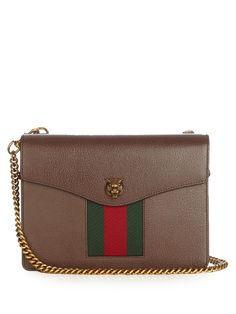 Gucci Animalier grained-leather shoulder bag