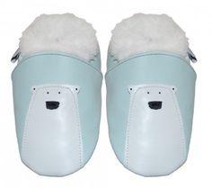#skinntøfler #til #baby og #barn #tøfler #baby #leather #shoes #isbjørn