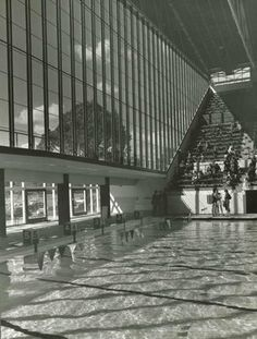 Melbourne's 1956 Olympic Games Swimming Pool. Designed by John and Phyllis Murphy.