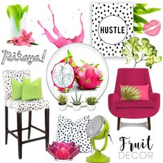 A home decor collage from April 2016 featuring jonathan adler chairs, gray counter height bar stools and lime green table lamp. Browse and shop related looks. Pitaya Fruit, Grey Bar Stools, Interior Decorating, Interior Design, Jonathan Adler, Collage, Interiors, Home Decor, Polyvore