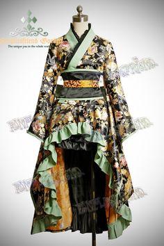 Lolita Kimono, so cool. Asian Steampunk, Mode Steampunk, Steampunk Fashion, Style Lolita, Lolita Mode, Gothic Lolita, Kimono Fashion, Lolita Fashion, Japanese Fashion