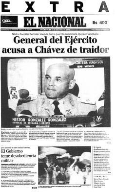 General de Ejercito acusa a Chávez de traidor. Publicado el 10 de abril de 2002.