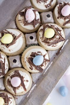 White Chocolate Easter Egg Cupcakes