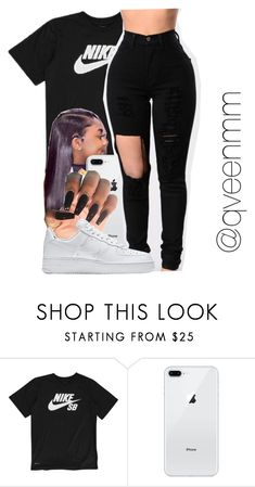 """Untitled #577"" by qveenmm ❤ liked on Polyvore featuring NIKE"