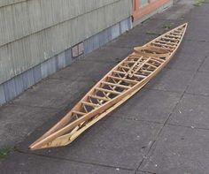 Replica West Greenland kayak frame.