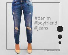 Boyfriend Jeans Denim Feel www. Denim Jeans, Skinny Jeans, Boyfriend Jeans, Stylish Outfits, Personal Style, Feminine, Glamour, Clothing, Pants