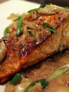 Spicy Salmon with Caramelized Onions | Recipes