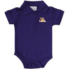 LSU Tigers Boys Infant Pique Golf Creeper – Purple