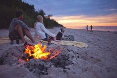 Now this is the right way to enjoy the beach on a chilly day! Snuggle up and take in the scenery as the sun sets over the water. Don't forget s'more supplies!(And be sure to check local beach fire rules!)Now this is the right way to enjoy the beach on a chilly day! Snuggle up and take in the scenery as the sun sets over the water. Don't forget s'more supplies!(And be sure to check local beach fire rules!)