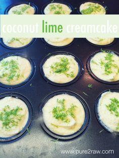 mini coconut lime cream cakes! #dairyfree #raw