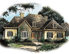 French Country Charm - 56130AD   Architectural Designs - House Plans