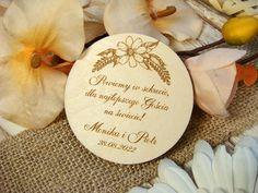 podziękowanie dla gości - drewniany magnes PM5 | Zaproszenia ślubne laserowe, drewniane dodatki i dekoracje Weeding, Save The Date, Grass, Weed Control, Wedding Invitation