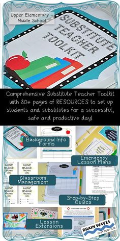Make a day out of the classroom easy as can be with this extremely detailed and comprehensive resource!    Its filled with everything you need to set up a Substitute Teacher Toolkit so that when life (illness, family emergency, travels, jury duty) gets