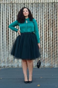 5 ways to wear a tulle skirt for plus size| Rita and Phill specializes in custom skirts. Follow us for more inspiration and ideas on the latest skirt fashion! www.pinterest.com... Women Big Size Clothes - http://amzn.to/2ix7dK5