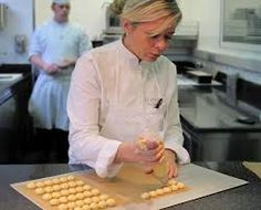 Christelle Brua - Pre Catelan Great Desserts, Pastry Chef, Chefs, Chef Jackets, Sweet, People, Fine Dining, Candy, People Illustration