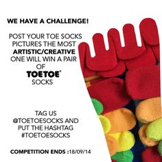 Competition Time! WIN a pair of #TOETOESocks !