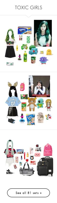 """TOXIC GIRLS"" by official-toxicgrils on Polyvore featuring Yves Saint Laurent, Casetify, Tony Moly, Diesel, adidas Originals, Hot Topic, Chicnova Fashion, Maison Michel, Topshop e INC International Concepts"