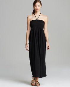 Soft Joie Acadia Maxi Dress Sz S & M, Black/Caviar Burnout Jersey Smocked Bodice #SoftJoie #Maxi #SummerBeach
