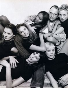 sam mc knight and the girls of 94/kate moss,bridget hall,naomi campbell,sam,beri smither,jaime rishar,christy turlington/patrick demarchelier