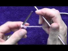 How to Knit - Casting on with 2 Needles - YouTube