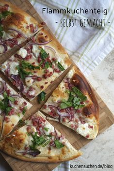 Flammkuchenteig ganz leicht selbst gemacht You can get a delicious, airy and thin tarte flambé with Hard Boiled Egg Recipes, Making Hard Boiled Eggs, Boiled Egg Diet, Avocado Egg Recipes, Healthy Egg Recipes, Quick Recipes, Pizza Recipes, Recipes With Yeast, Toast Pizza