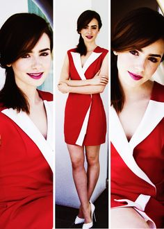 Lily Collins at The Mortal Instruments Press Conference
