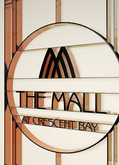 Crescent Bay retail mall logo created by HBA Graphics