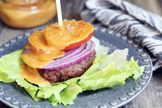Chipotle Aioli served over a burger with lettuce, tomato and onion Homemade Mayo Recipe, Homemade Butter, Paleo Whole 30, Whole 30 Recipes, Paleo Recipes, Real Food Recipes, Paleo Sauces, Turkey Recipes, Recipes