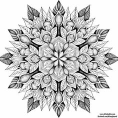 flower mandala coloring page - Abstract Coloring Books