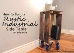 DIY Pallet Board Project: Building a Rustic-Industrial End Table (Nightstand). Easier than it seems!