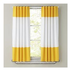 Color Edge Yellow Curtain Panel