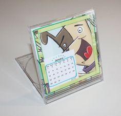 Jaarkalender in cd hoesje