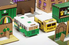 via apartmenttherapy... kid-friendly paper city! http://papierowemiasto.pl