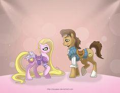My Disney Pony: Rapunzel by *MySweetQueen on deviantART Ahahaha~ Flynn's Cutie Mark <3