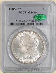 1885-CC Morgan Dollar MS66+ PCGS, obverse ~ CAC