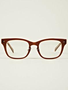 46722e5ecb0 nonnative x Kaneko Optical Men s Dweller Glasses in brown at oki-ni