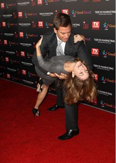 Michael Weatherly and Sasha Alexander. Former co-stars on NCIS, reunited again in 2011. Awww! Tony and Kate