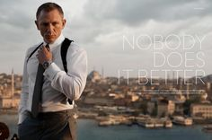 Want the watch Daniel Craig / James Bond wear in the new Skyfall film? Well two appear in Skyfall. A black-dialled OMEGA Planet Ocean and an OMEGA Sea James Bond Skyfall, James Bond Movies, Daniel Craig Skyfall, Daniel Craig James Bond, Omega Planet Ocean, Omega Seamaster Planet Ocean, Rachel Weisz, Gq, Omega James Bond