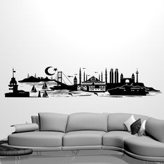 Wunderschönes Istanbul Wandtattoo - nur bei Wandtattoo Kiwi - Siluette Istanbul - Istanbul Skyline - Istanbul Duvar Sticker