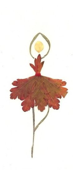 herbst fensterdeko kinder ballerina Kids can really use their imagination creating these figures! Autumn Leaves Craft, Autumn Crafts, Nature Crafts, Leaf Crafts, Flower Crafts, Art For Kids, Crafts For Kids, Arts And Crafts, Pressed Flower Art