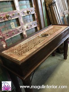 Coffee Table Solid Wood Carving